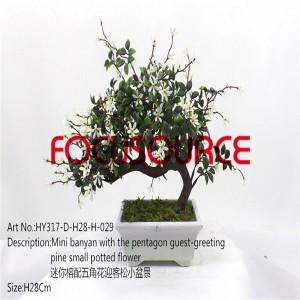 Artificial Mali Bonsai Tree-HY317-D-H28-H-029